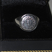 SOLD Vintage Sterling Signet Ring Nantasket Beach