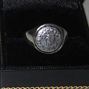 Vintage Sterling Signet Ring Nantasket Beach