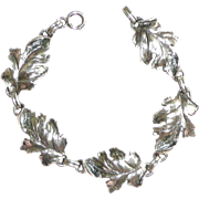 SALE Danecraft Sterling Leaf Bracelet