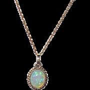 SOLD 14K Gold Opal Pendant Necklace