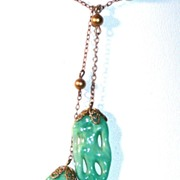 REDUCED Peking Glass Lavaliere
