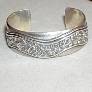 REDUCED Peter Nelson Sterling Cuff Bracelet
