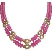 REDUCED Vintage Glass Beads and Faux Pearls Choker