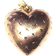 Vintage 14K Gold Puffy Heart Charm