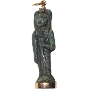 REDUCED Rare Egyptian Amulet Sekhmet Set in RoseGold