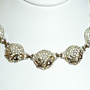 SALE Vintage Reja Choker Necklace and Earrings Set
