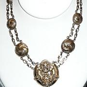 REDUCED Victorian Revival Necklace Gargoyle