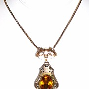 REDUCED Victorian Revival Necklace Ornate Pendant