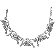 REDUCED Outstanding Vintage Rhinestone Necklace and Earrings
