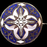 SALE Scottish Victorian Enamel Brooch