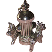 Vintage Large Monet Charm Scotty Dogs Fire Hydrant