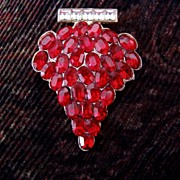 Red Grapes Vintage Sew On Pin