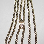 SALE Victorian Slide Chain Pearls Opal