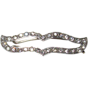 SALE Art Deco Sterling Paste Barrette Fit for a Bride