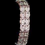 SALE Art Deco Sterling Paste Bracelet