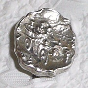 REDUCED Silver Stickpin Motorcar with Horse Looking Back