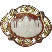 Vintage Carved Shell Cameo Taj Mahal