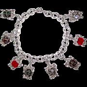 Vintage Tea Time Charm Bracelet Nuvo Charms
