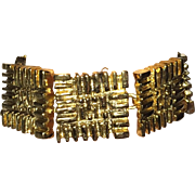 REDUCED Vintage Designer Ted Lapidus Chunky Gold Tone Bracelet