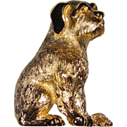 Well Hello There! Adorable Trifari Dog Brooch