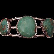 SALE Wonderful American Turquoise Silver Bracelet