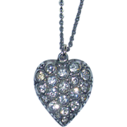 REDUCED Victorian Sterling Puffy Heart Charm