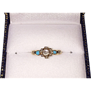 SOLD Victorian Moonstone Turquoise Ring