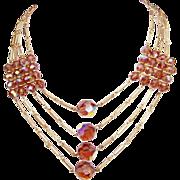 REDUCED Vintage Golden Topaz Crystal Necklace