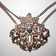 SALE Rare Massive Nettie Rosenstein Sterling Pendant Necklace