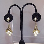 REDUCED Vintage Faux Pearls Clip and Earrings