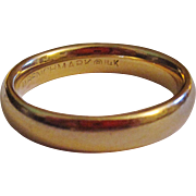 REDUCED Vintage 14K Gold Benchmark Wedding Band Ring Size 7 1/2