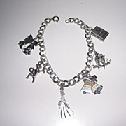 REDUCED Vintage Charm Bracelet Wedding Theme