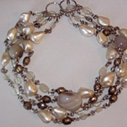 SALE PENDING Chunky Wild Agate Beads Necklace