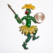 REDUCED Zulu Warrior Brooch Circa 1940