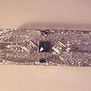 SALE Vintage Sterling Filigree Pin