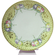 R. S. Silesia Small Floral Design Porcelain Plate