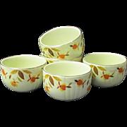 Hall's Superior Autumn Leaf Custard Bowls