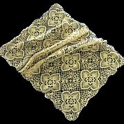 Crocheted Flower Pattern Table Runner, Dresser Scarf