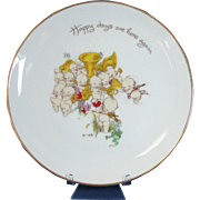 "Rose O'Neill Kewpie Plate ""Happy Days Are Here Again"" Collector Plate"