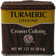 1980's Crown Colony Ground Turmeric Tin