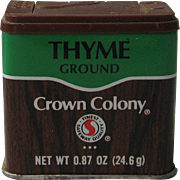 1980's Crown Colony Ground Thyme Tin