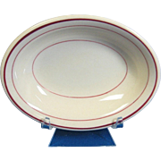 Carr China Glo-Tan Restaurant Ware Small Oval Shallow Dish