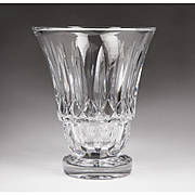 SALE Large Vintage Baccarat Crystal Cut Vase