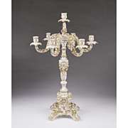 SALE Large 19th C. Dresden Candelabra