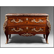 SOLD Early 20th C. Louis XV Bronze Mounted Kingwood Commode