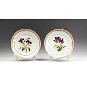 SALE Pair of Circa 1840 Paris Porcelain Dinner Plates