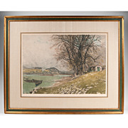 SALE Color Etching by Luigi Kasimir; Estate Signed