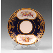 SALE Early  19th C.  Soft Paste Hand Painted Saucer