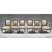 SALE Suite Of Six 18th Century Louis XVI Chairs