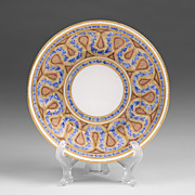 SALE Early 19th C. Worcester Saucer After Sevres Style